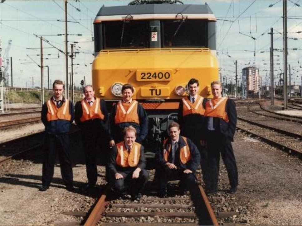 Lille 1993 (me bottom right) learning the French locos that were used in the Channel Tunnel